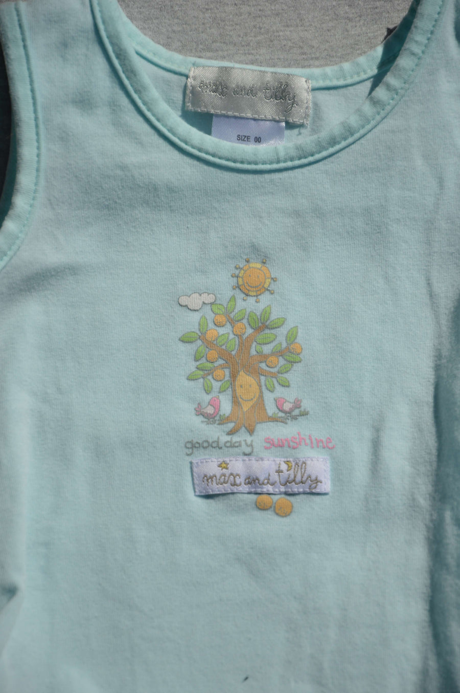 Max & Tilly - nearly new - two piece summer outfit, size 3-6m
