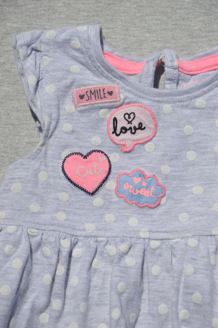 Young Dimension grey marle dress, size 0-3m