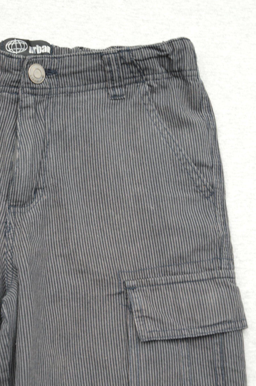 Urban grey & black striped cargo shorts, size 10