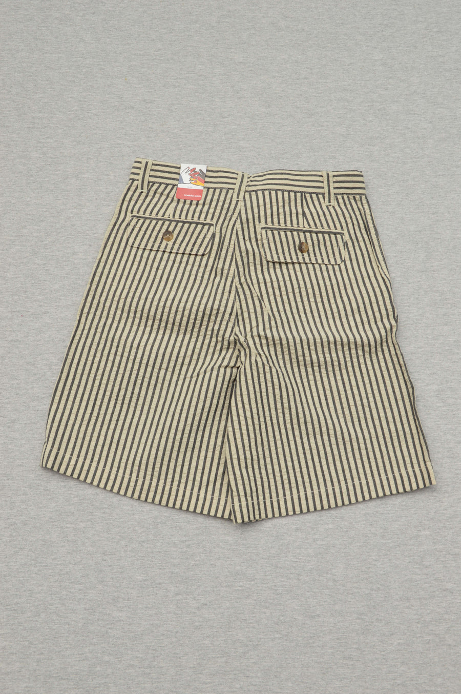 Onekid - brand new - black striped seersucker dress shorts, size 7