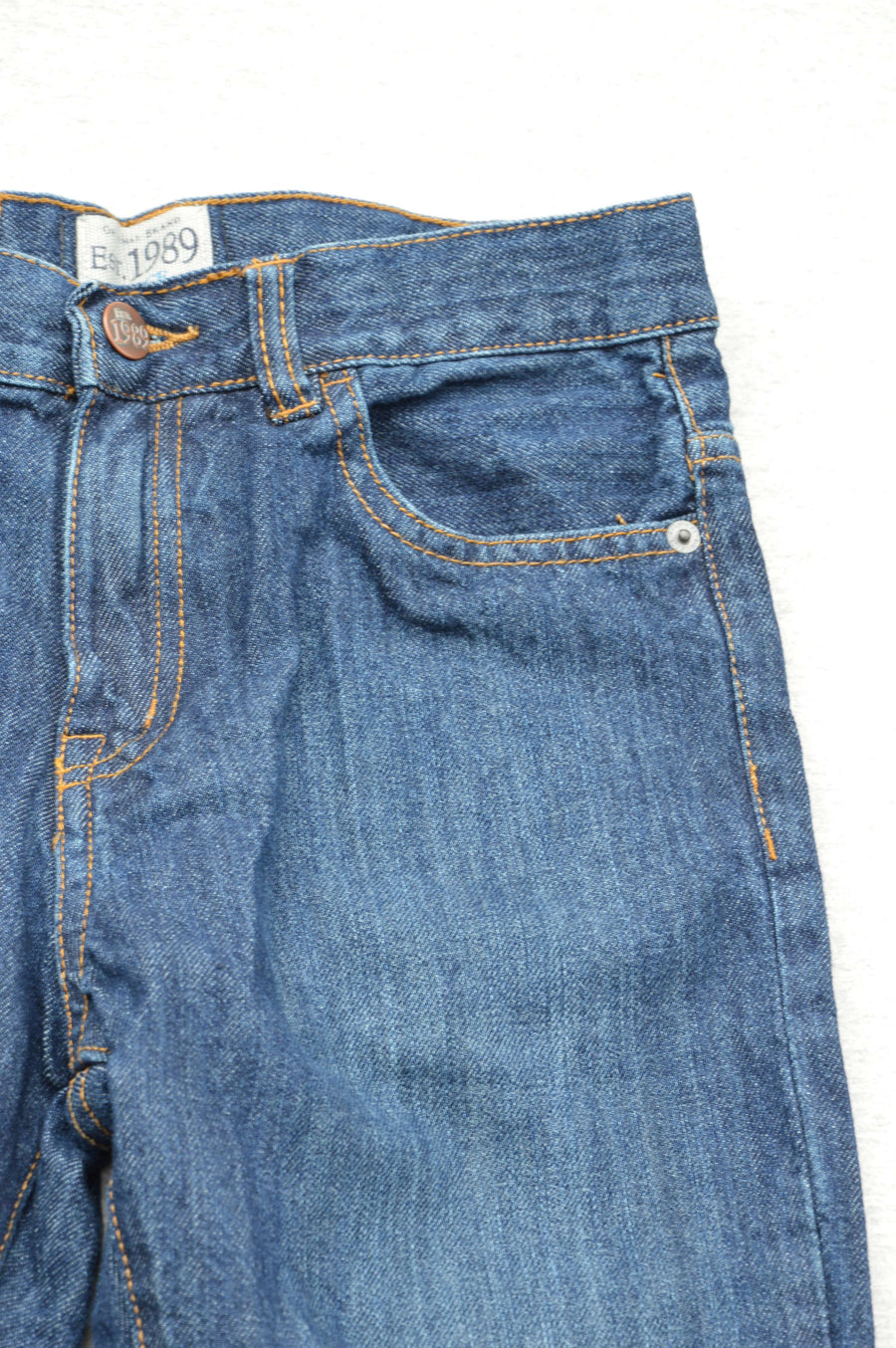 Place - nearly new - mid-blue straight leg jeans, size 12