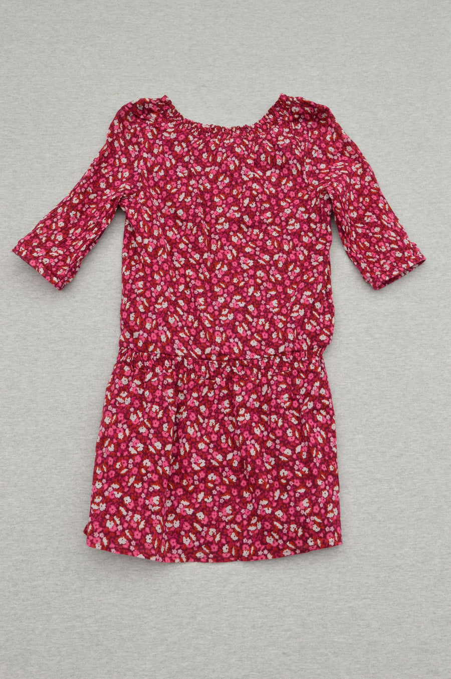 Old Navy - nearly new - maroon floral dress, size 7