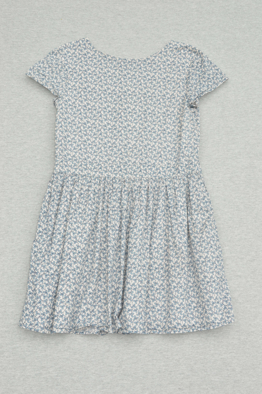 Gap - nearly new - blue floral summer dress, size 8