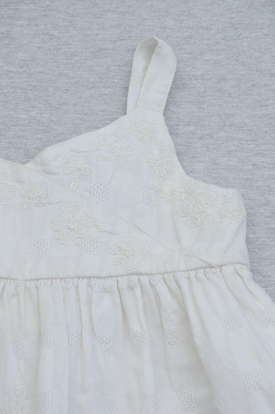 Marks & Spencer's Mini Boutique cream embroidered top, size 2-3