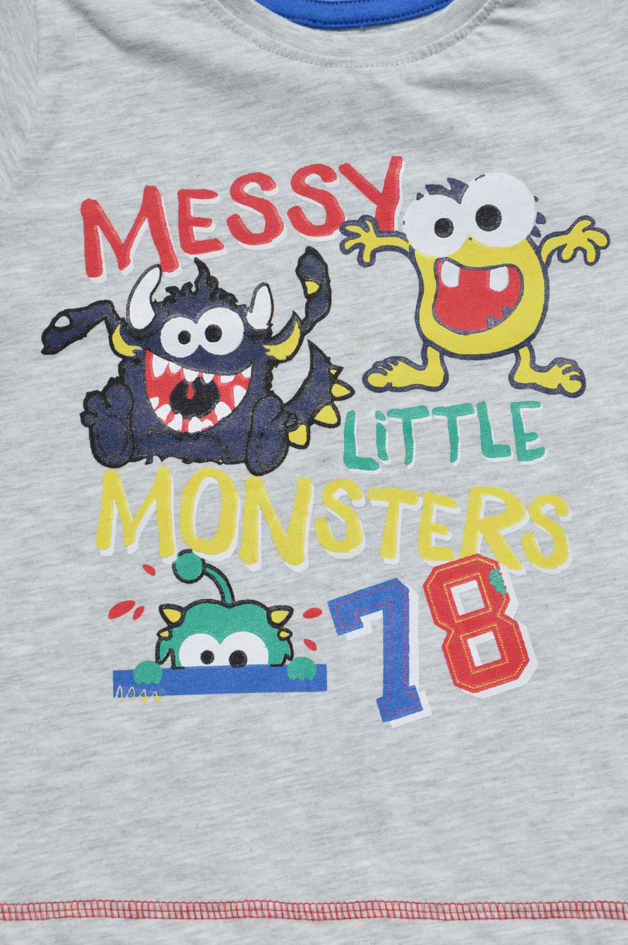 Dunnes - brand new - light grey monster t-shirt, size 18-23m