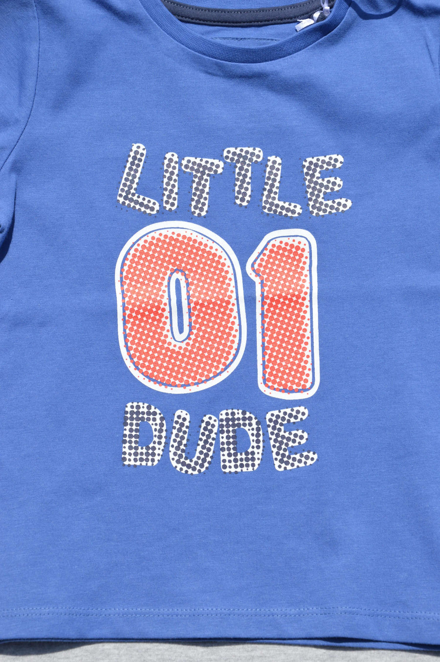 Tu - brand new - blue 'little dude' t-shirt, size 18-24
