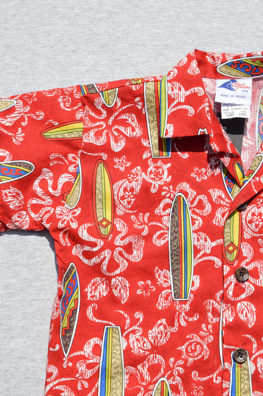 Nui Nalu - nearly new - red Hawaiian shirt, size 2