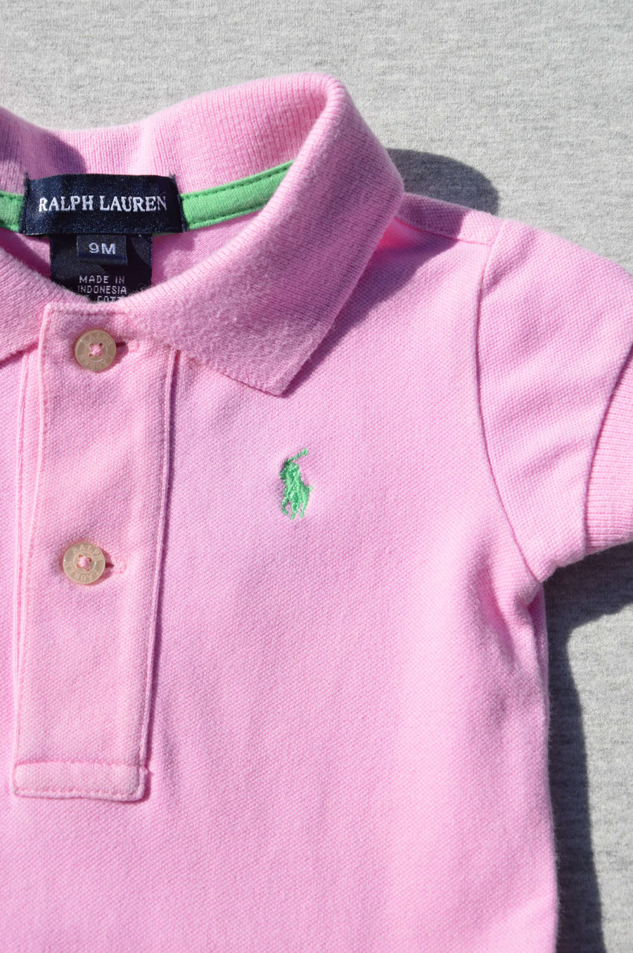 Ralph Lauren - nearly new - pink polo dress, size 9m
