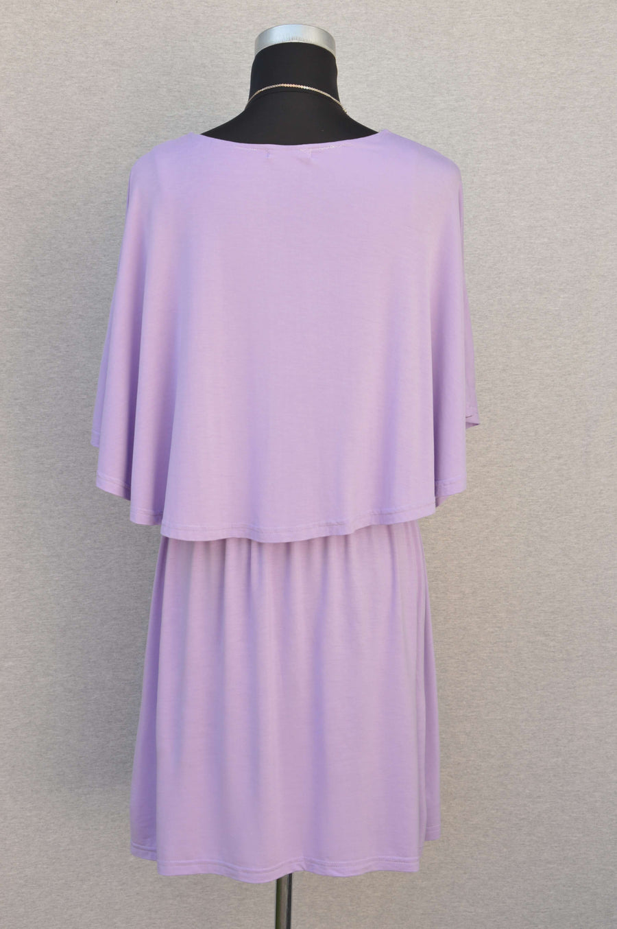 Bearsland stretchy jersey lilac breastfeeding dress, size L (NZ 10/12)