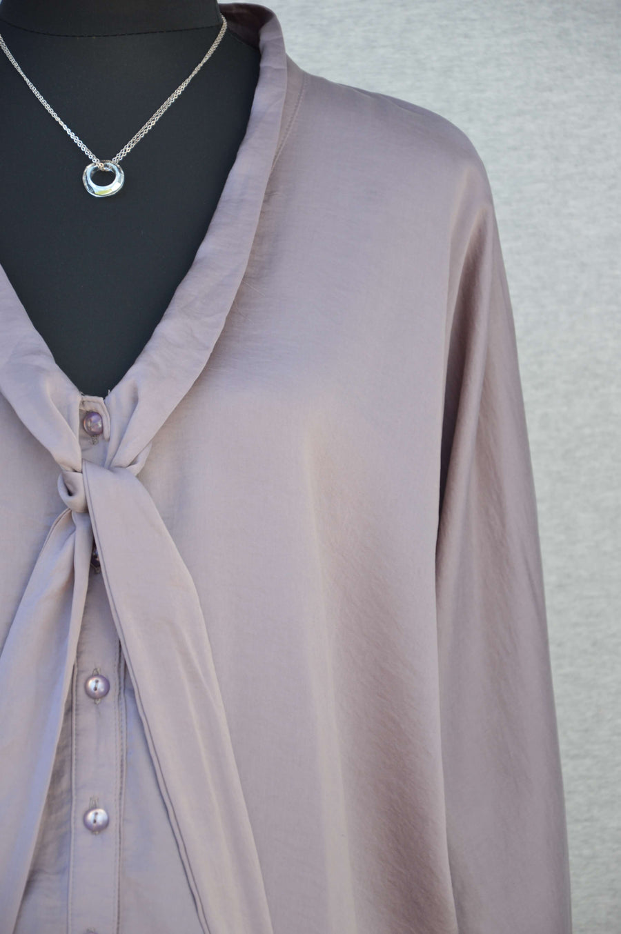 Ripe Limited mauve silky shirt, size S (NZ 10/12)