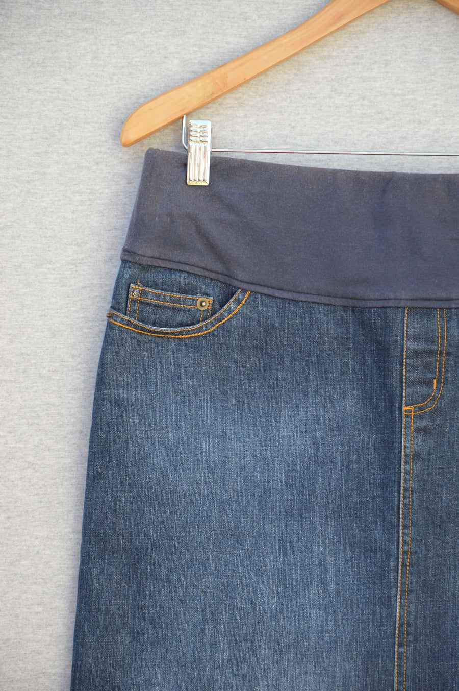 MAYA under bump denim skirt, size 10
