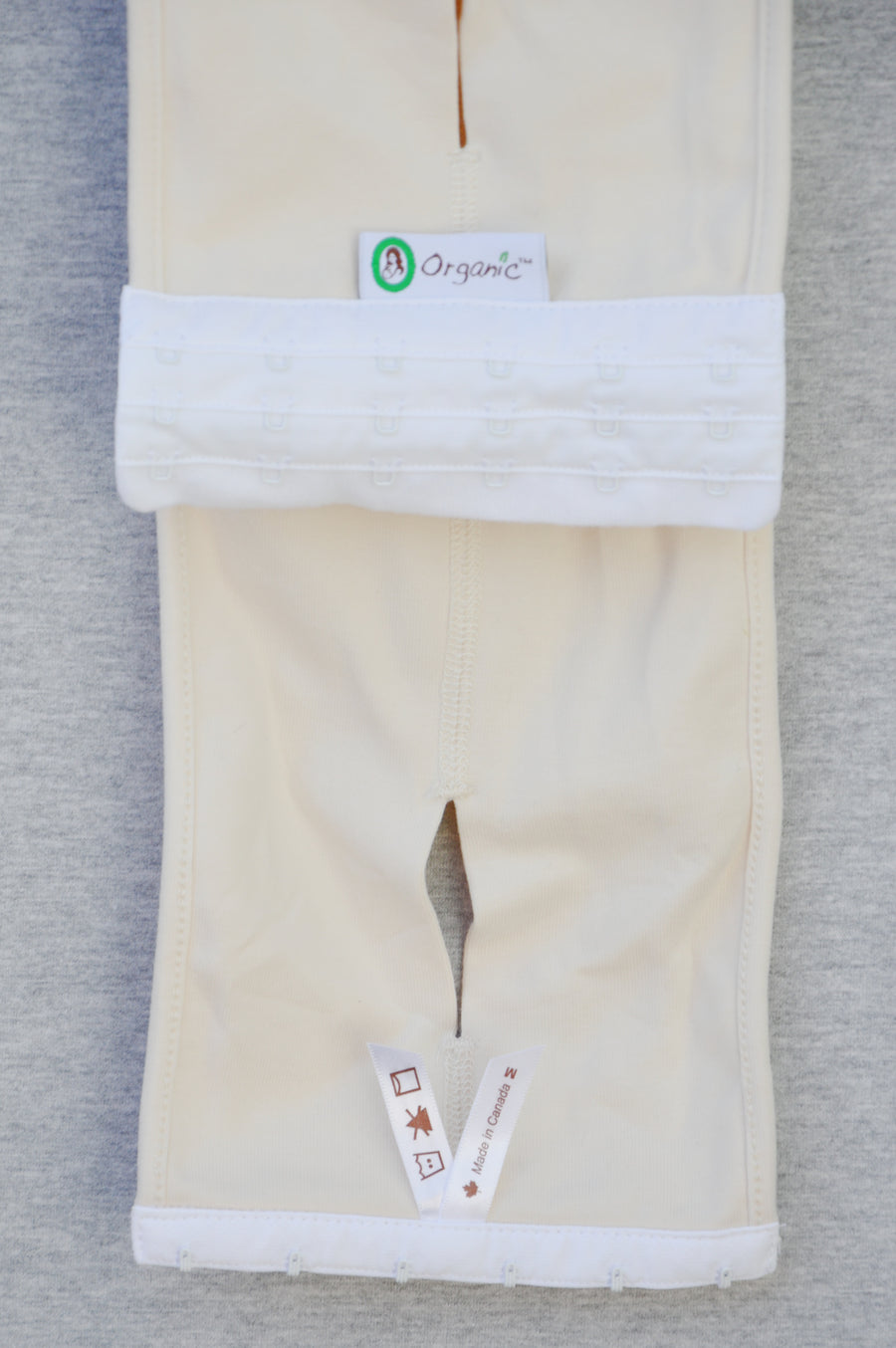 Organic cream bump support belt, size M (NZ 6/8)