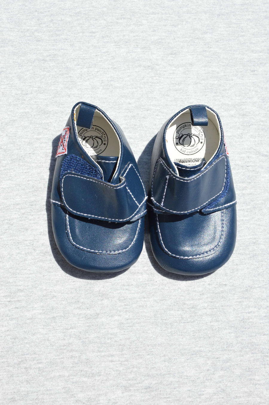 Pumpkin Patch - brand new - blue soft sole shoes, size NZ 1