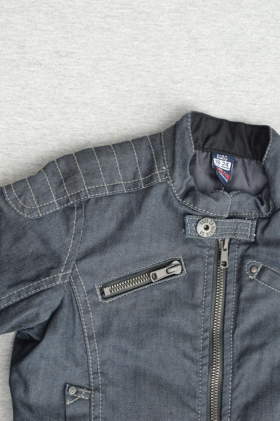 Zara - nearly new -  denim bomber jacket, size 2-3