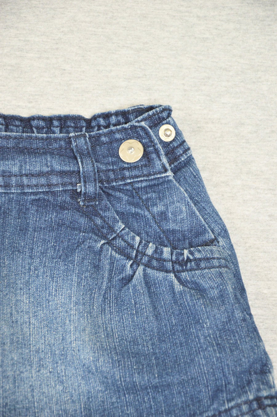 JK - nearly new - denim skirt, size 6-9m