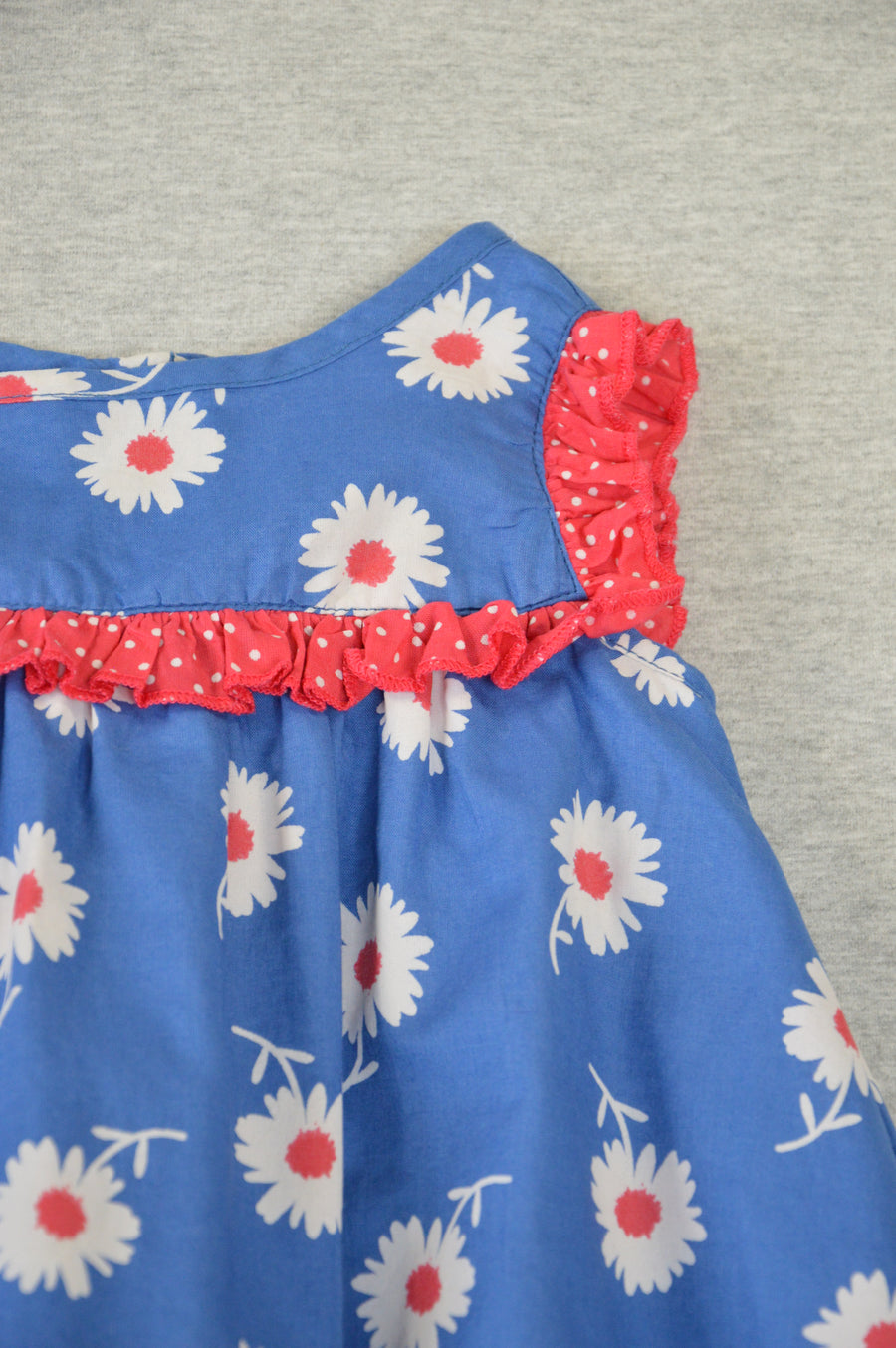 Tiny Little Wonders - nearly new - blue floral sundress, size 6-12m