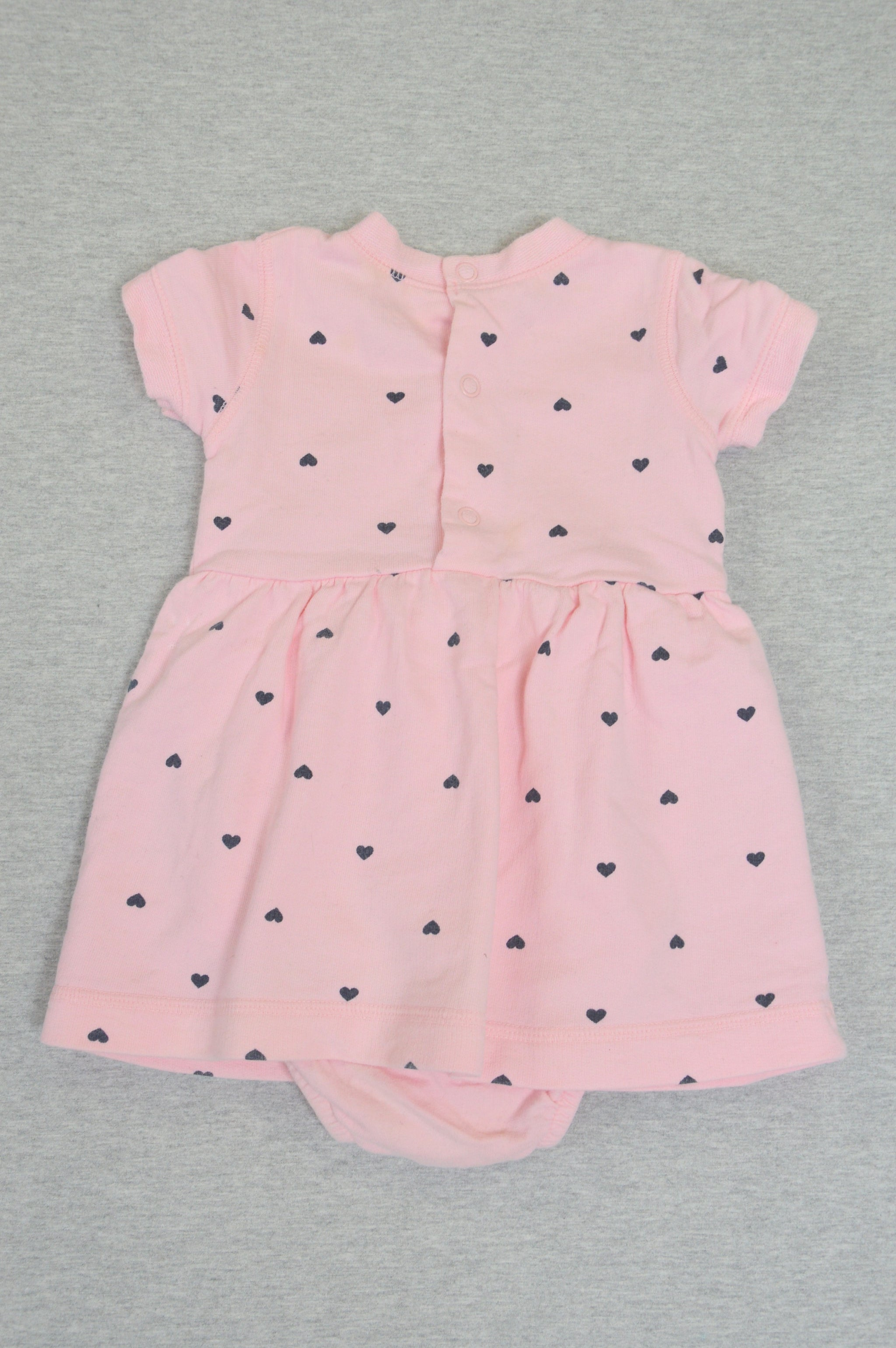 aa33b5fa6 Carter's pink heart onesie dress, size 12m - Charlie & Flo's