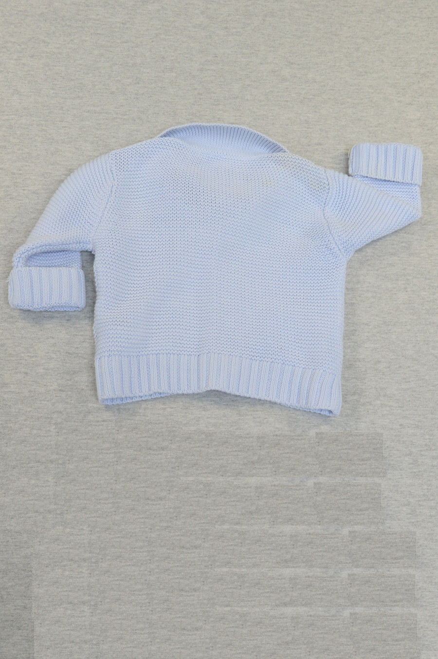 Tartine et Chocolat baby blue knitted cardigan, size 3m