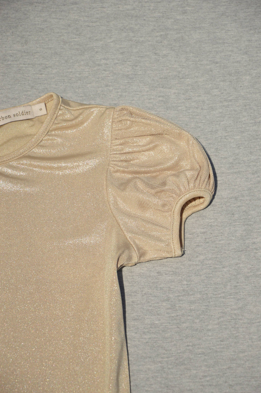 Carbon Soldier - nearly new - gold lamé top, size 6