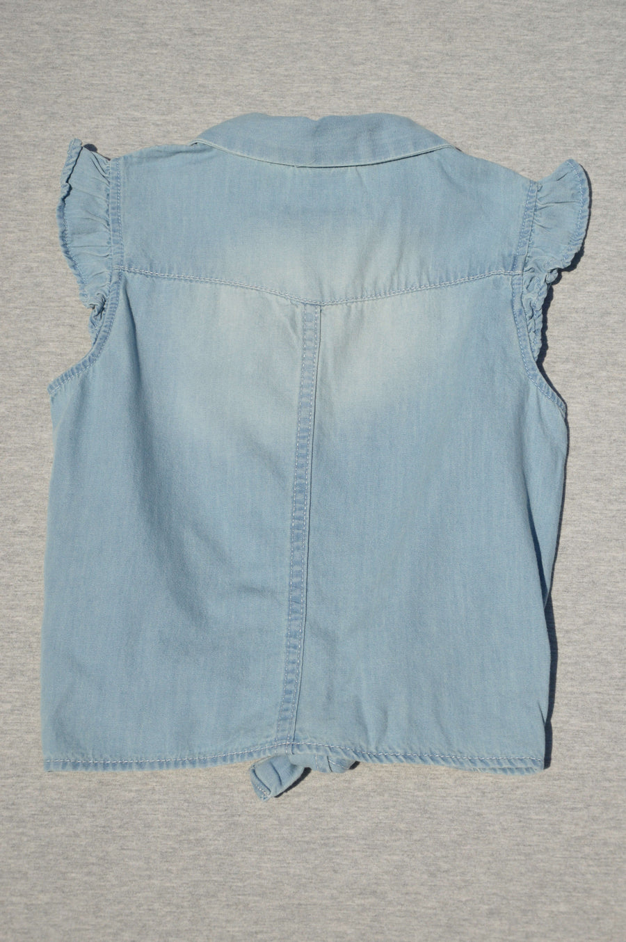 H&M denim effect top, size 6-7