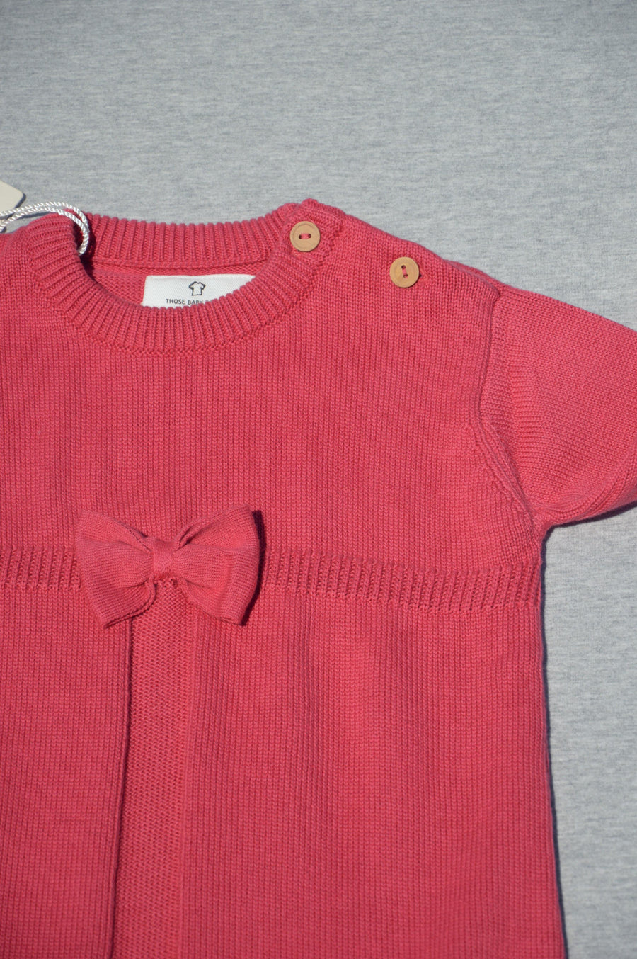 Those Baby Basics - brand new - pink knit dress, size 4-5