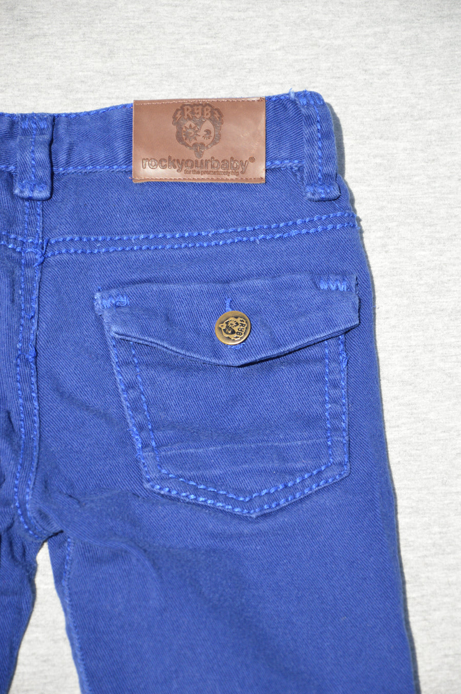 Rock Your Baby royal blue denim jeans, size 6