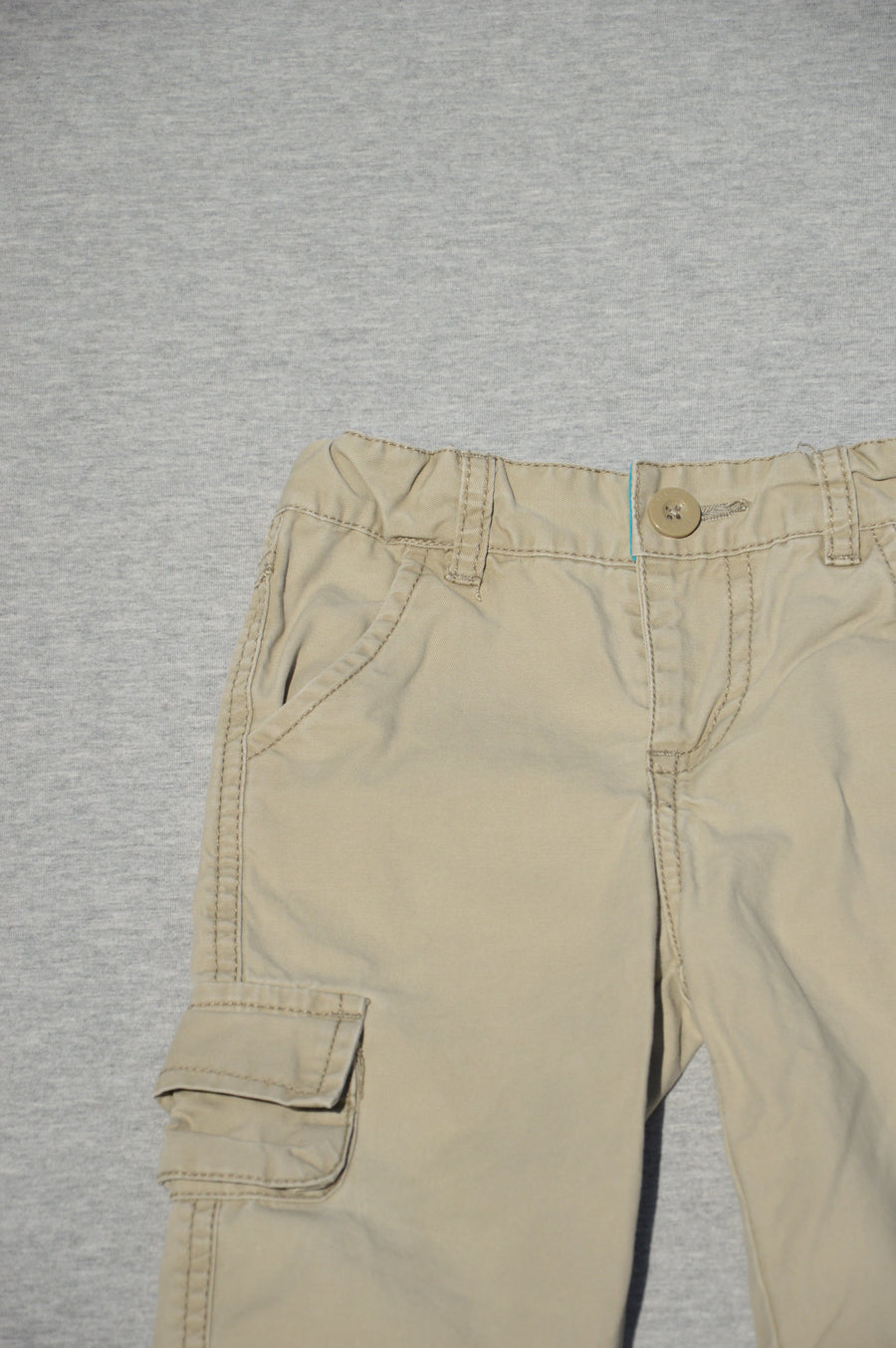 Pumpkin Patch cream cargo pants, size 6-12m