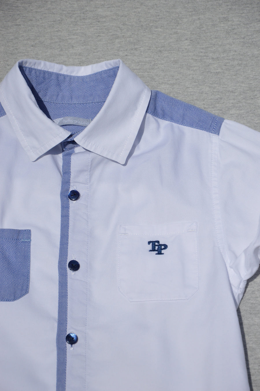 Tutto Piccolo - nearly new - smart, white shirt, size 4