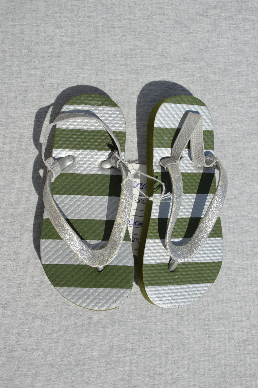 Cotton On - brand new - khaki jandals, size NZ 7