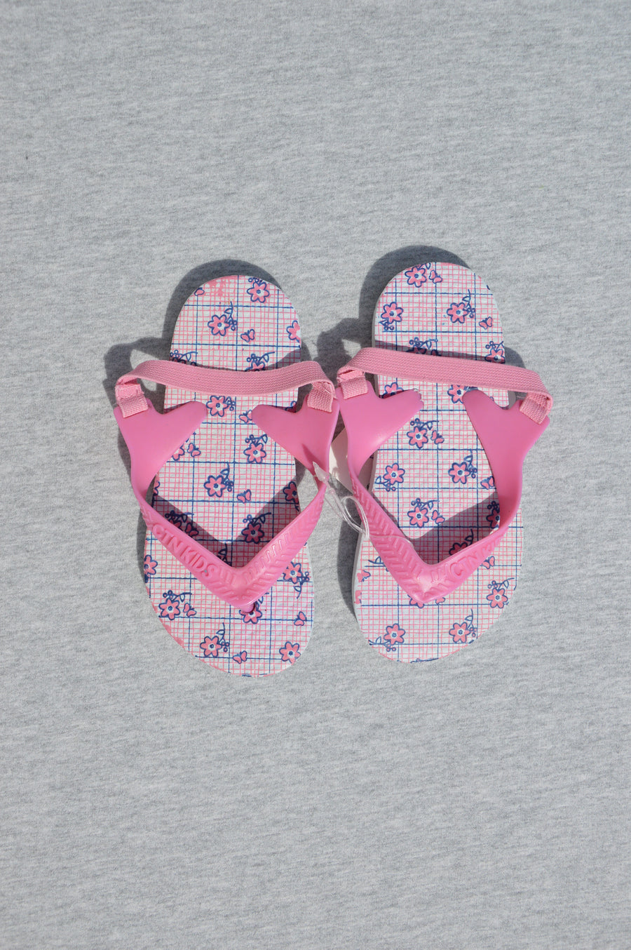 Cotton On - brand new - white & pink floral jandals, size NZ 6