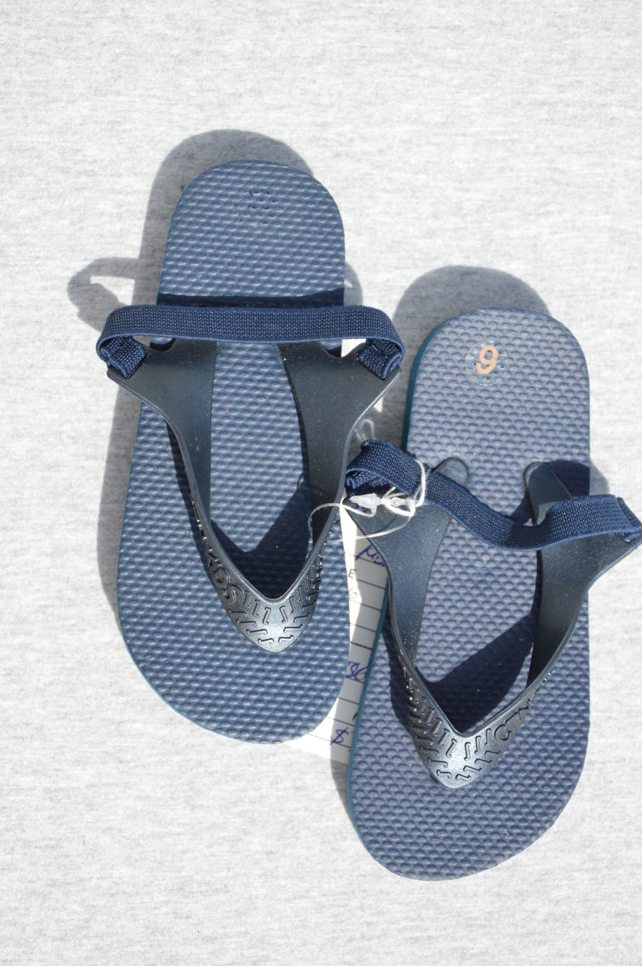 Cotton On - brand new - navy jandals, size NZ 6
