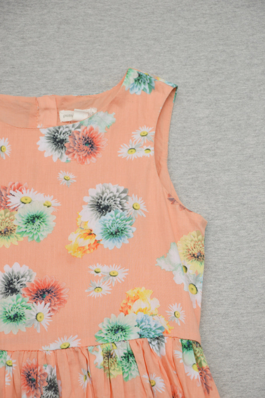 Pumpkin Patch peach floral dress, size 9Y