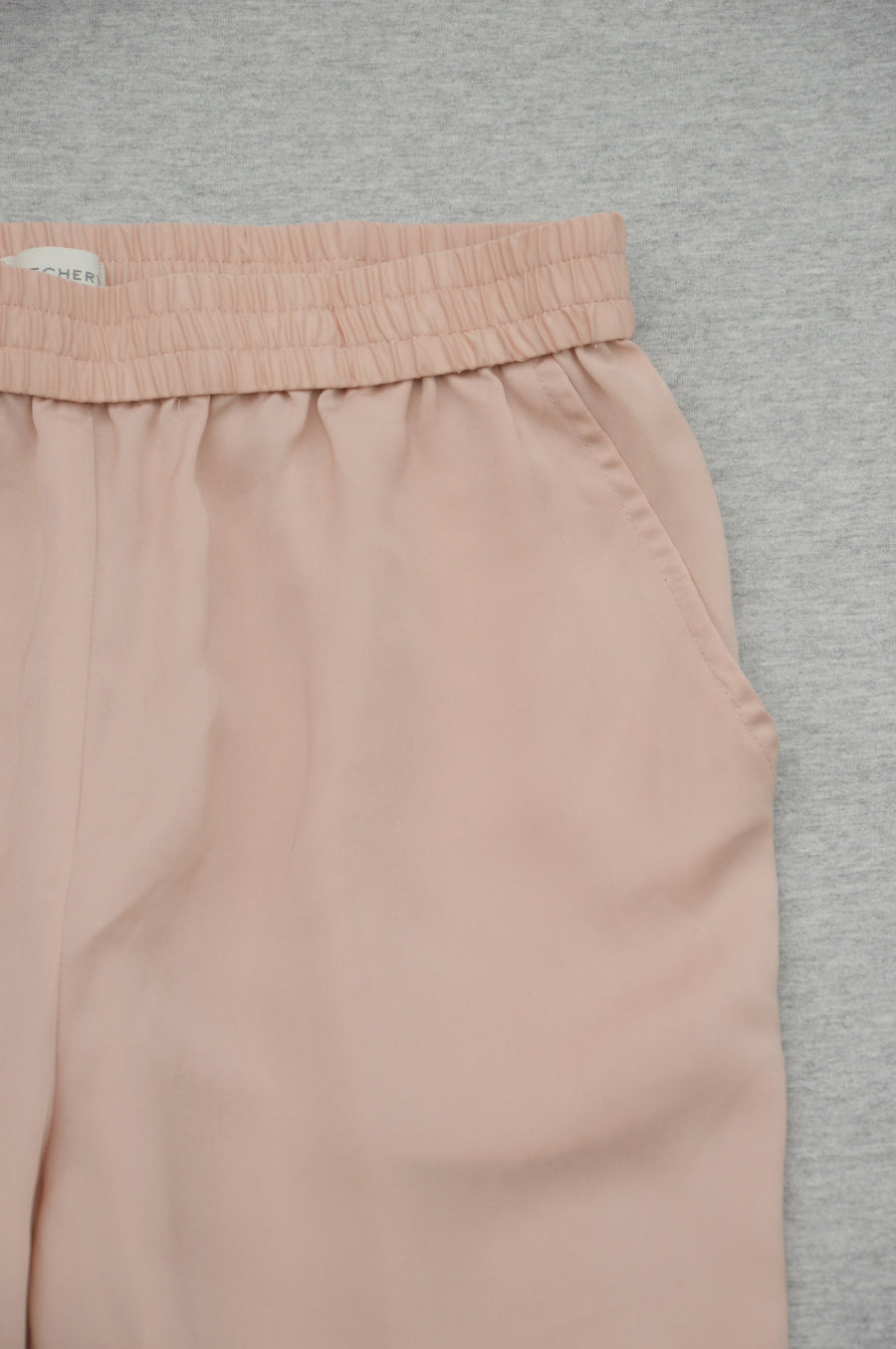 Witchery - nearly new - blush pink satin-feel pants, size 8Y