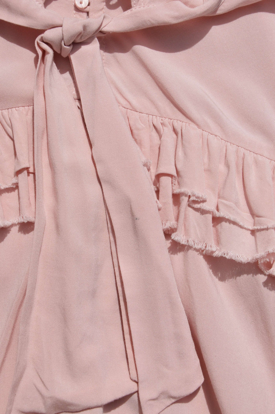 Witchery - nearly new - blush pink shirt, size 5