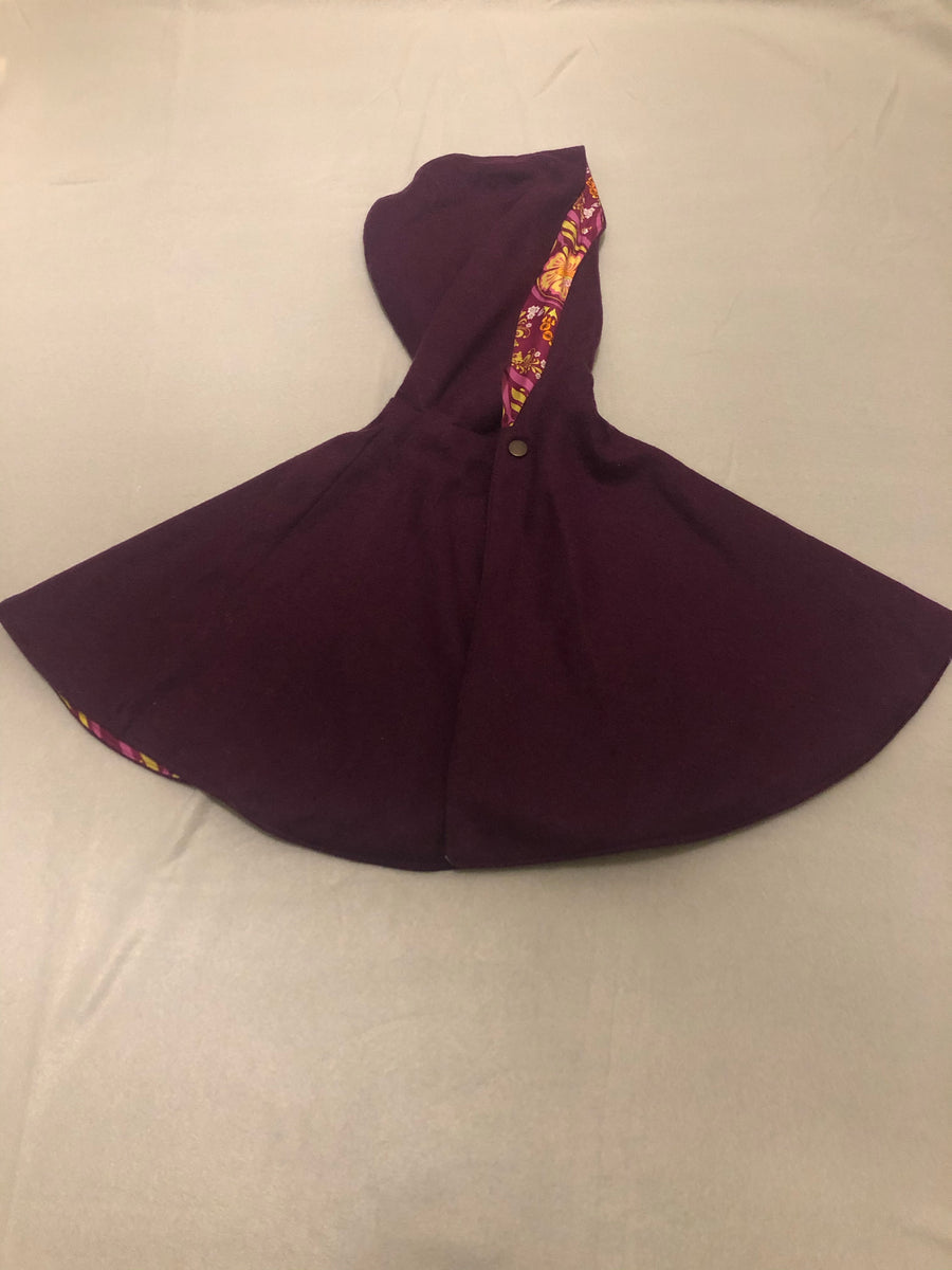 Three Little Kids purple hooded poncho