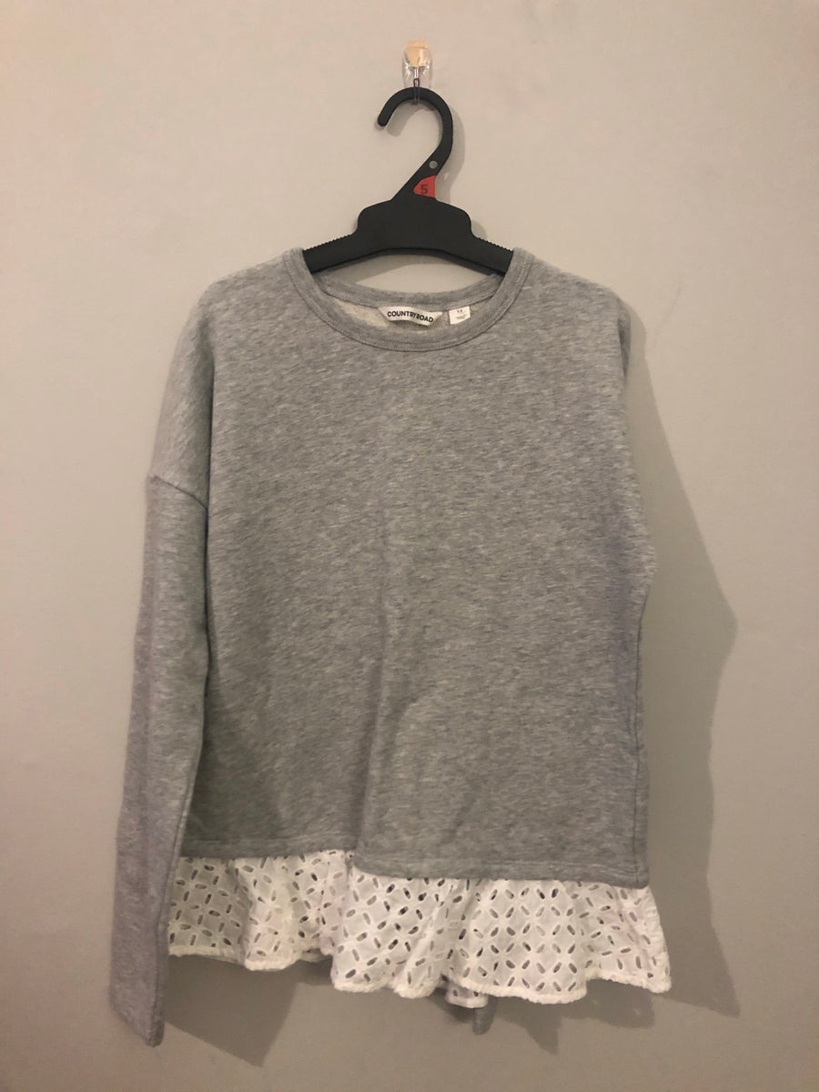 Country Road - Grey Jersey. Size 12y