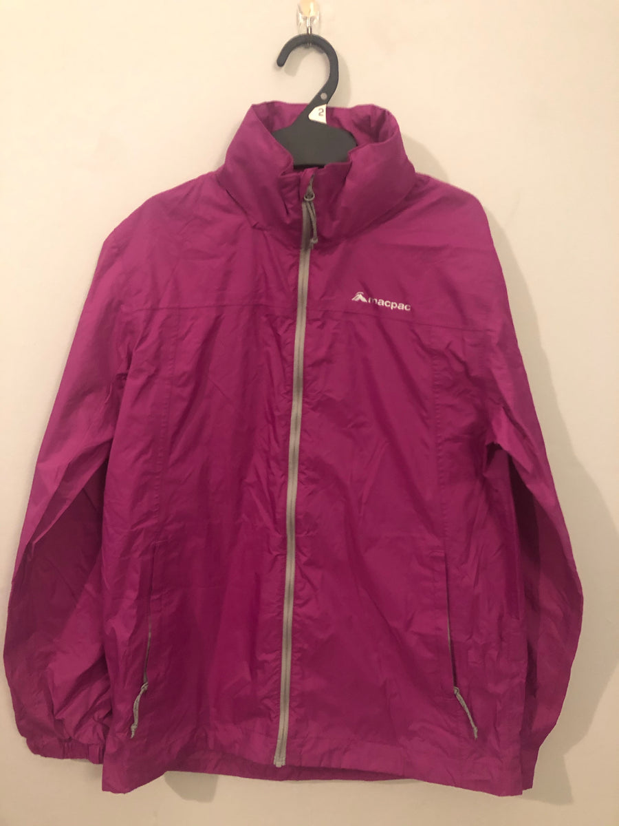 Macpac - Purple Raincoat. Size 10y