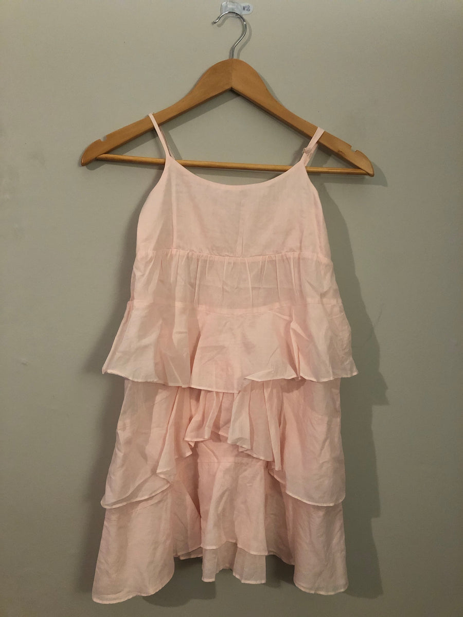 Witchery - Pink Frill Dress. Size 10y