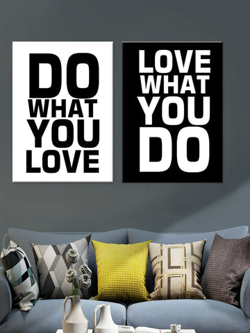 Do What You Love Cloth Art Print Set of 2
