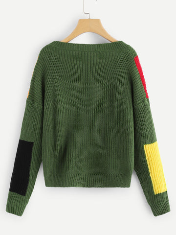 In the Jungle Block Sweater