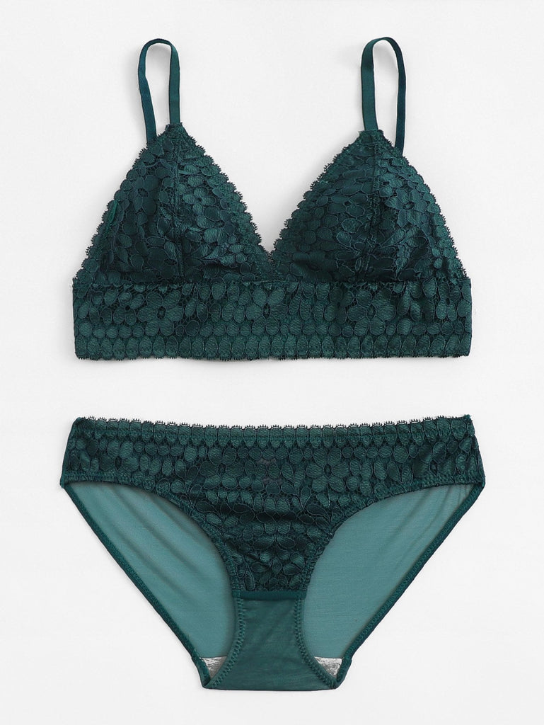 Holiday Collection Evergreen Bralette Set