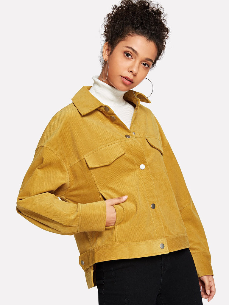Mustard Pocket Corduroy Jacket