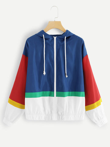 Playtime Color Block Hoodie Jacket