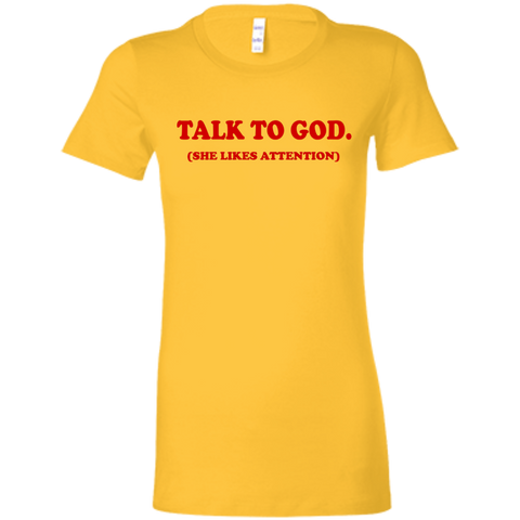 TALK TO GOD TEE BY BLK GRL