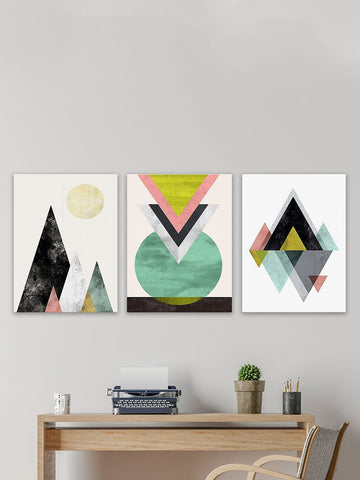 Geometric Cloth Art Print Set of 3