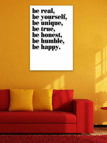 Be Real Cloth Art Print