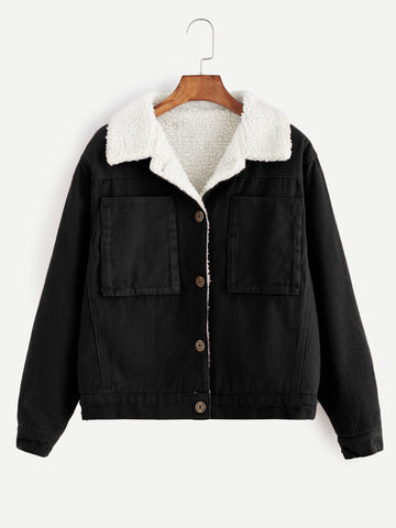Classic Sherpa Lined Big Pocket Jacket