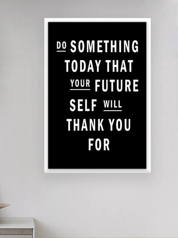 Do Something Today Cloth Art Print