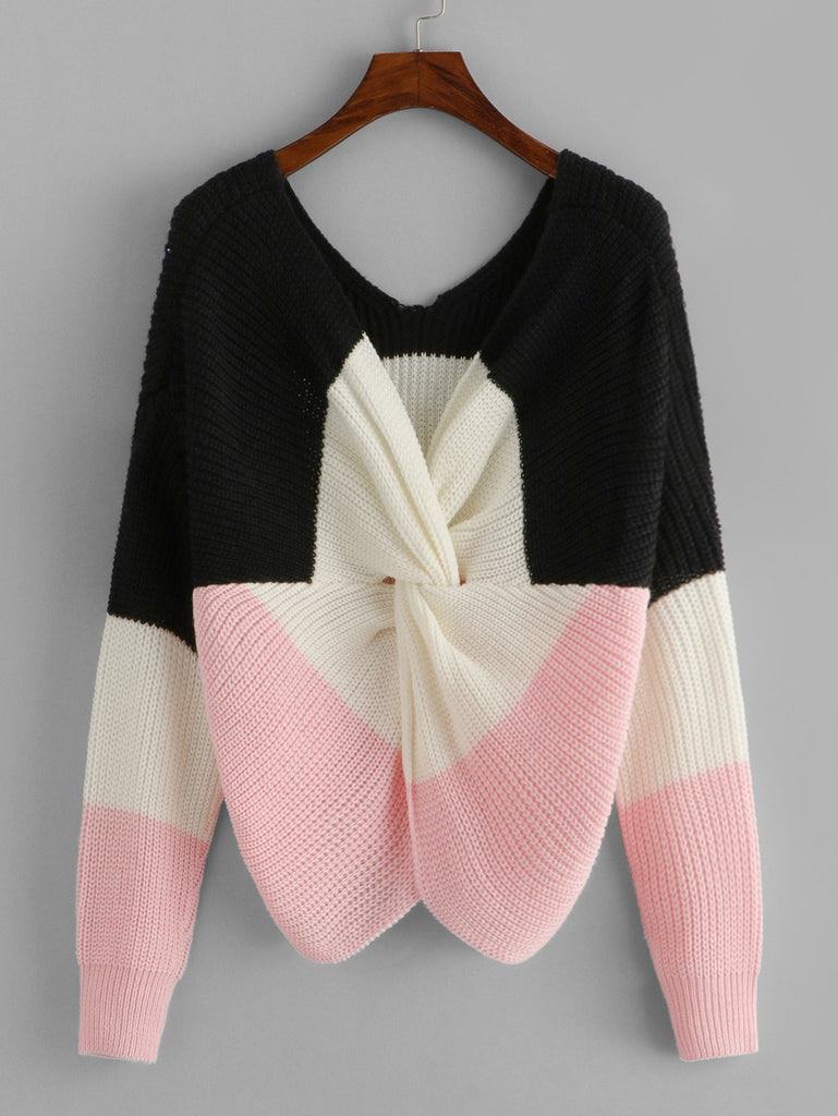 Twist Color-Block Jumper