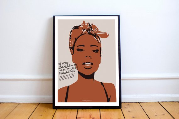 Be You Art Print by Godly Gorgeous